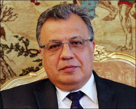 Image result for images of Russian ambassador to Turkey, Andrey Karlov