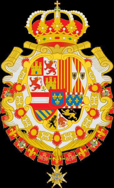 File:Escudo de Felipe V de España Toisón y Espiritu Santo Leones de gules.svg
