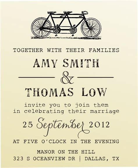 DIY Wedding invitation vintage design typewriter font