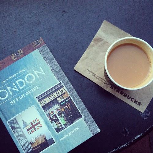 Pumpkin spice latte and a book about London. by cocopuff1212
