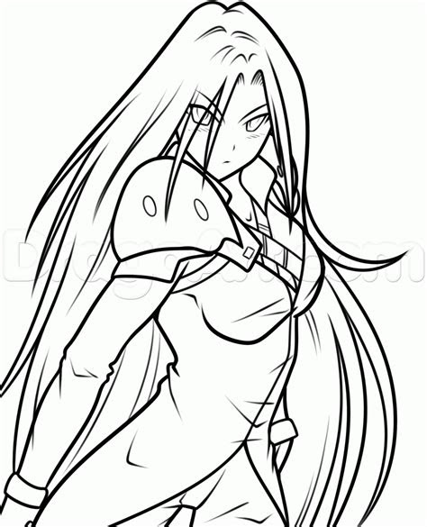 draw anime sephiroth step  step video game