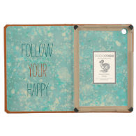 Trendy Happy Quote Aqua iPad Mini Retina Case