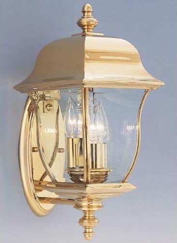 Gladiator Polished Brass Three-Light Outdoor Wall Mounted Light