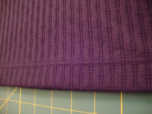 Butterick 5244 twin needle stitched hem