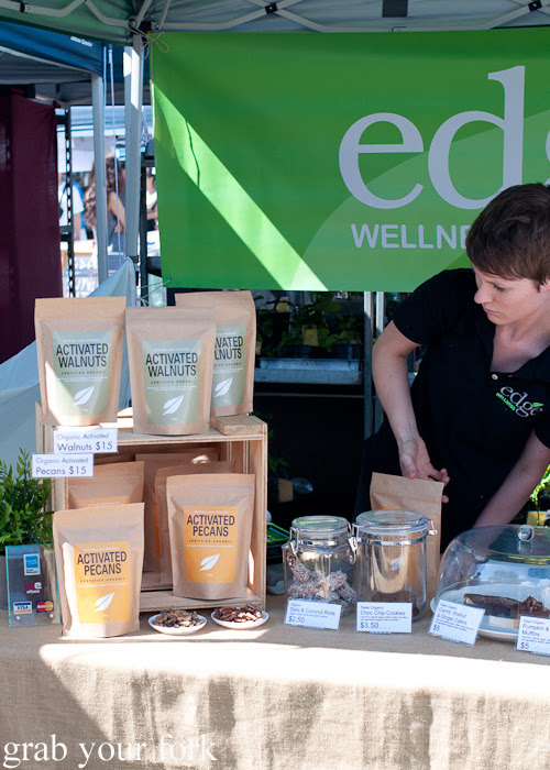 Activated walnuts and pecans at Frenchs Forest Organic Food Market