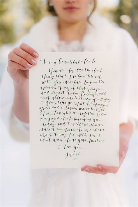 wedding day love #letter   Photography: boiseweddinggowns