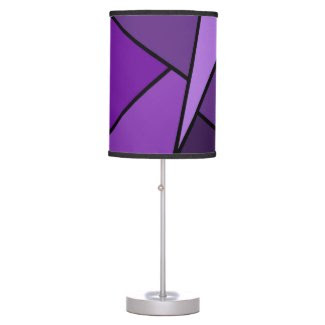 Abstract Purple Polygons Table Lamp