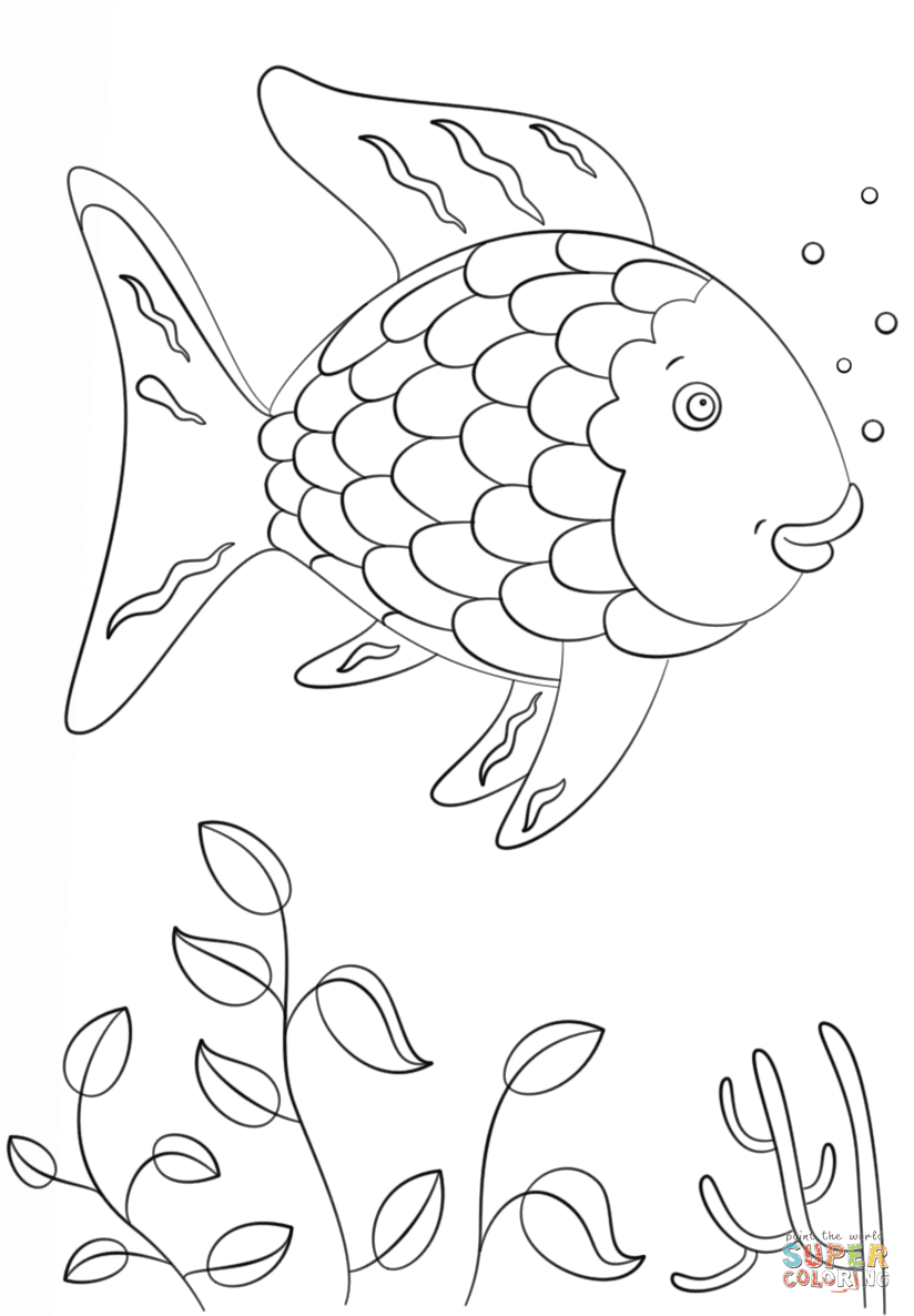 Rainbow Fish coloring page | Free Printable Coloring Pages