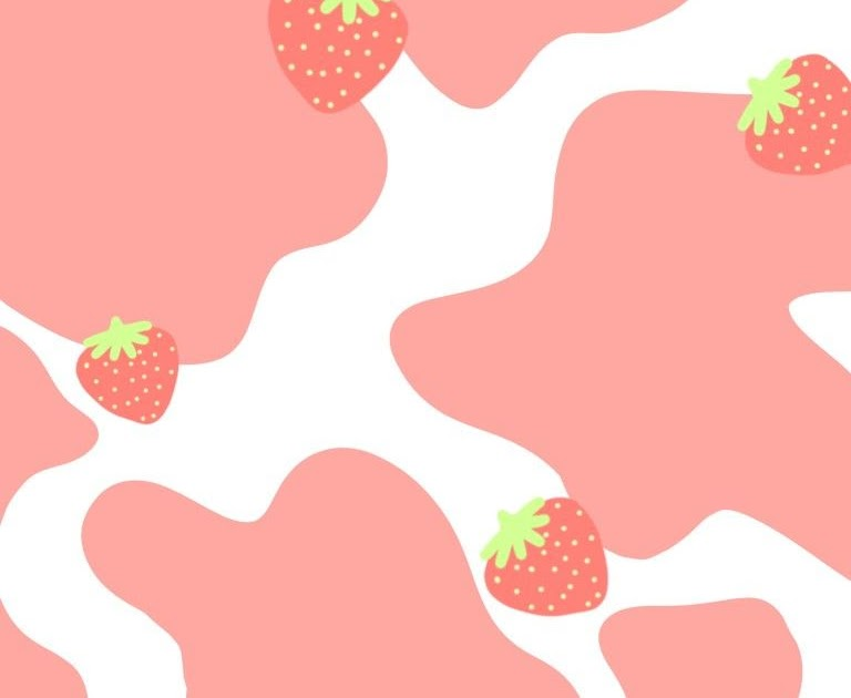 37 Aesthetic Light Pink Aesthetic Cute Strawberry Cow Wallpaper Pics The Pooh Wall