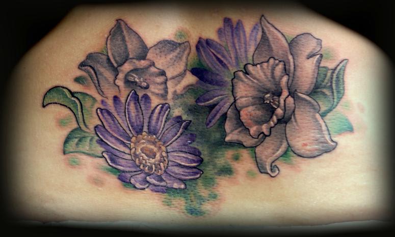 Purple Aster Flower Tattoo Design For Women Tattoomagz