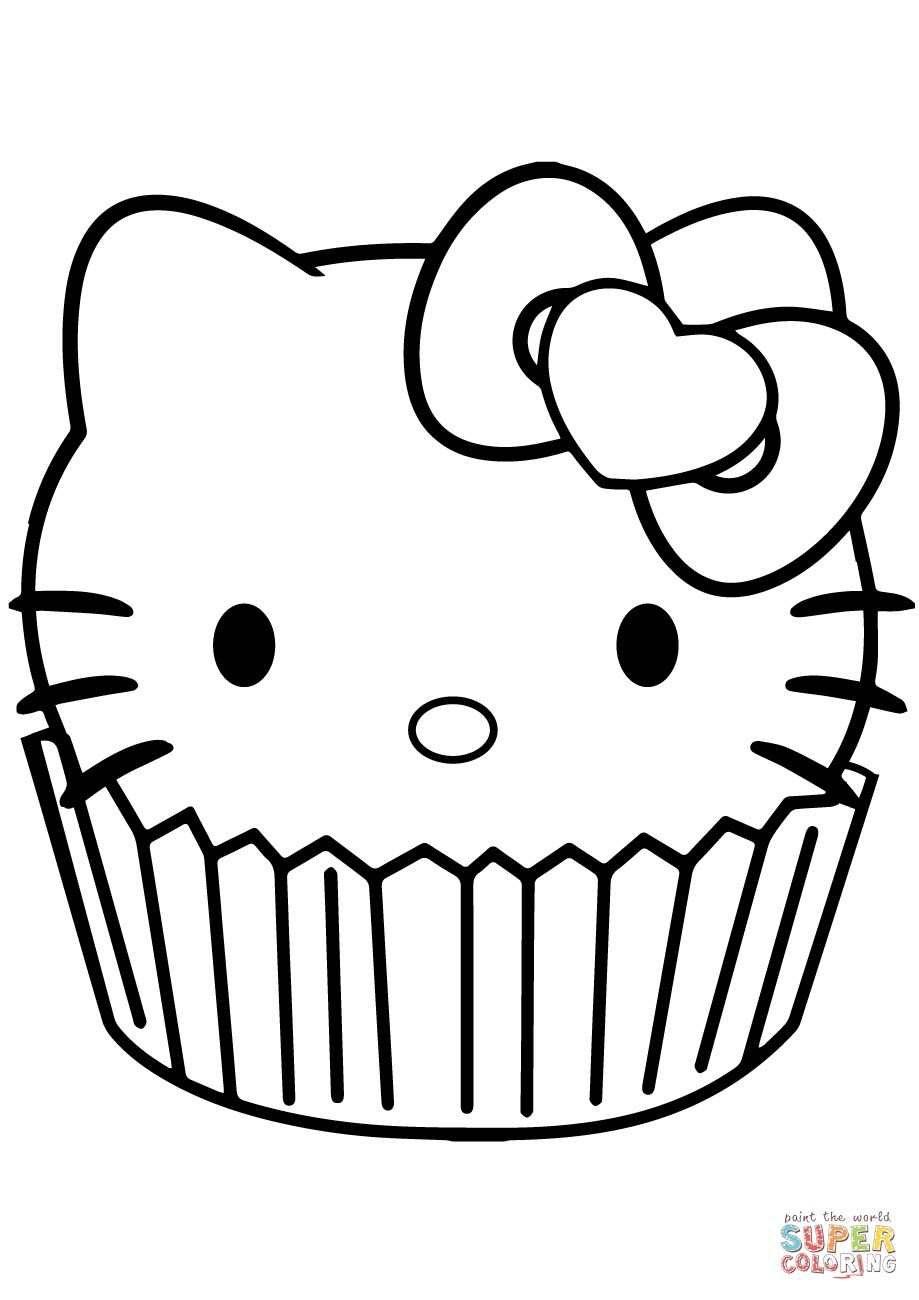 540 Colouring Pages For Cupcakes , Free HD Download