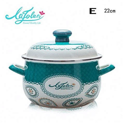xiangyan large capacity double handle thickened enamel pot