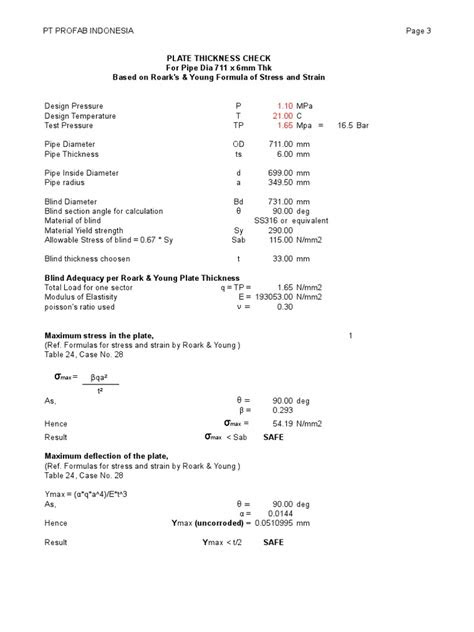 Blind Calculation - Roark | Strength Of Materials | Pipe