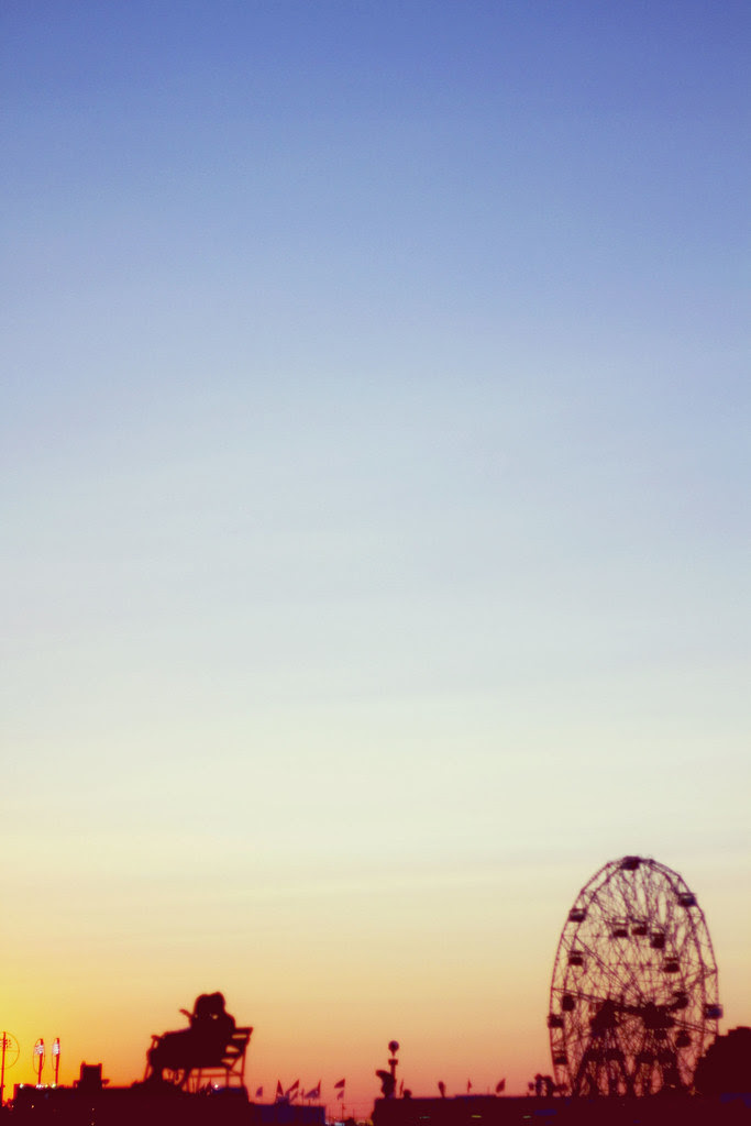 .Sunset at Coney Island.