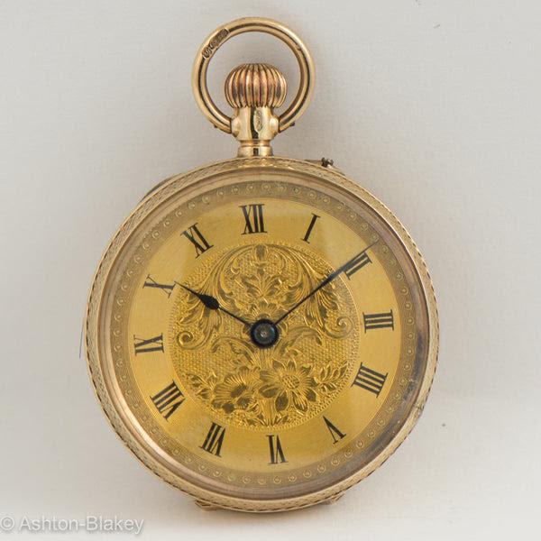 English 9k Gold Pocket Watch Ashton Blakey Vintage Watches