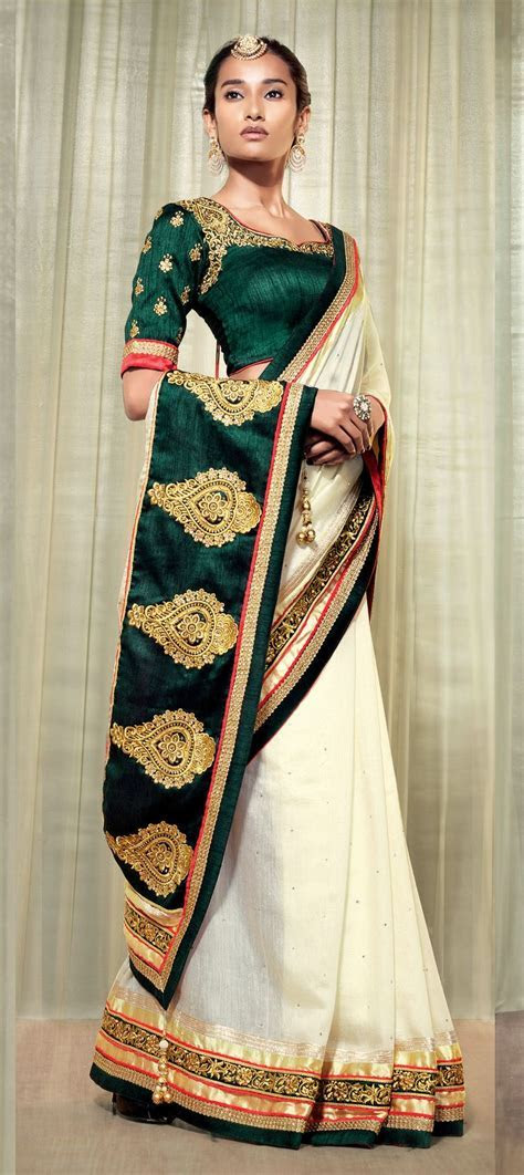 17 Best ideas about Wedding Sarees on Pinterest   White