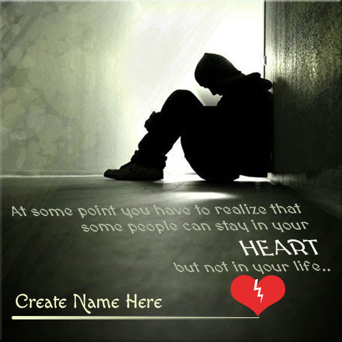 Create Your Name On Broken Heart Boy Picture