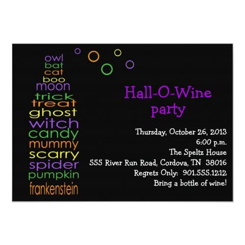 Hall-O-Wine Party Invitation