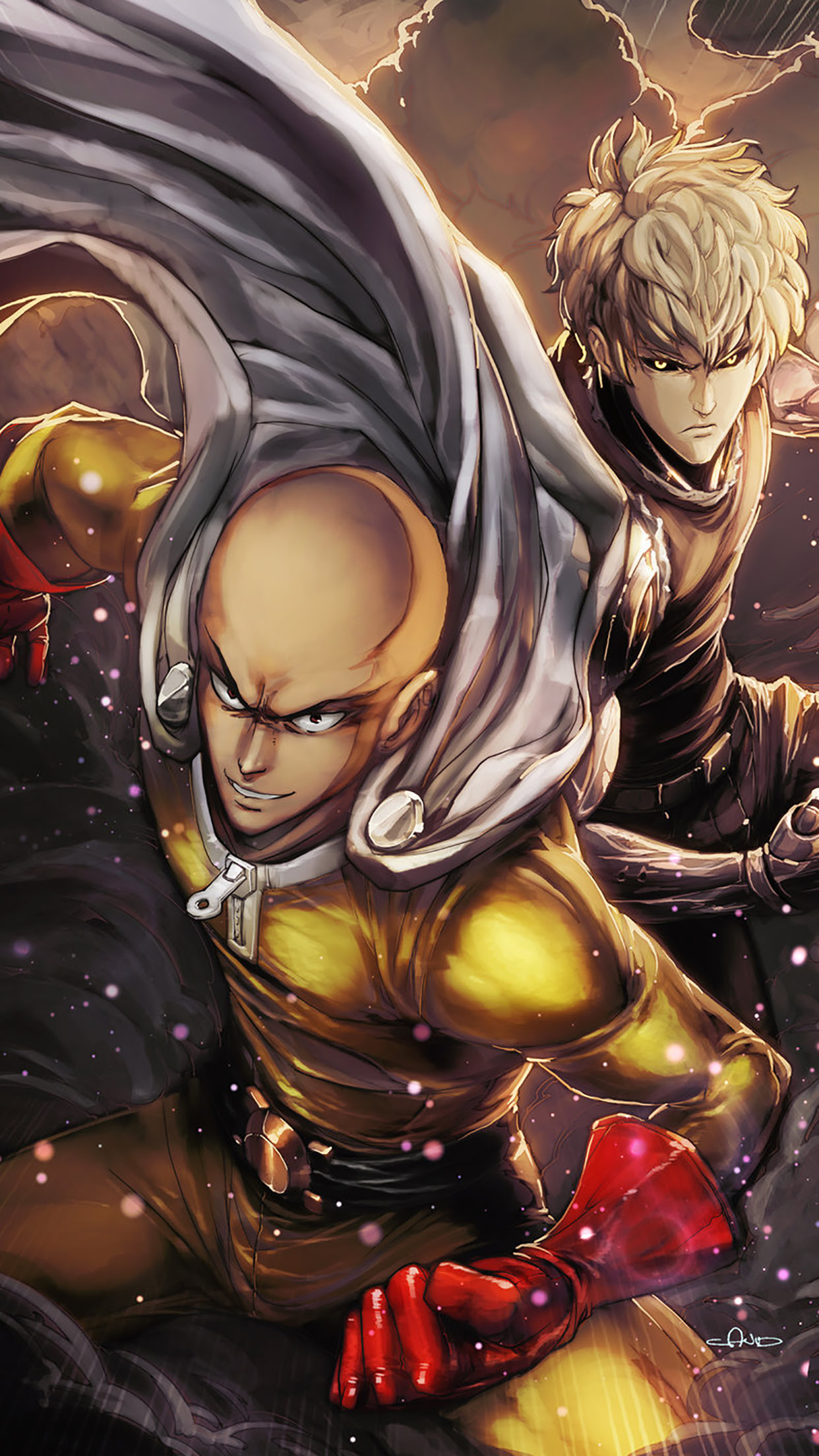 One Punch Man : Acting Wallpaper for iPhone 11, Pro Max, X ...