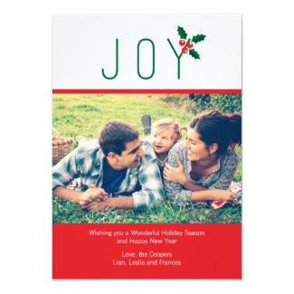Simple Joy Holiday Photo Card