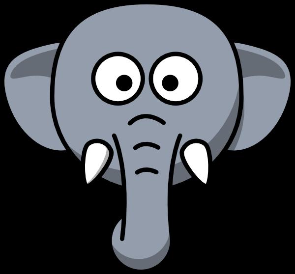 Cute Elephant Head Drawing Hexopict Wall Ideas