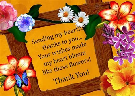 Floral Thank You! Free Birthday Thank You eCards, Greeting