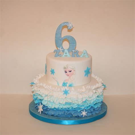 elsa  tier ruffle cake