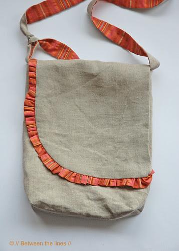 Ruffled Messenger Bag