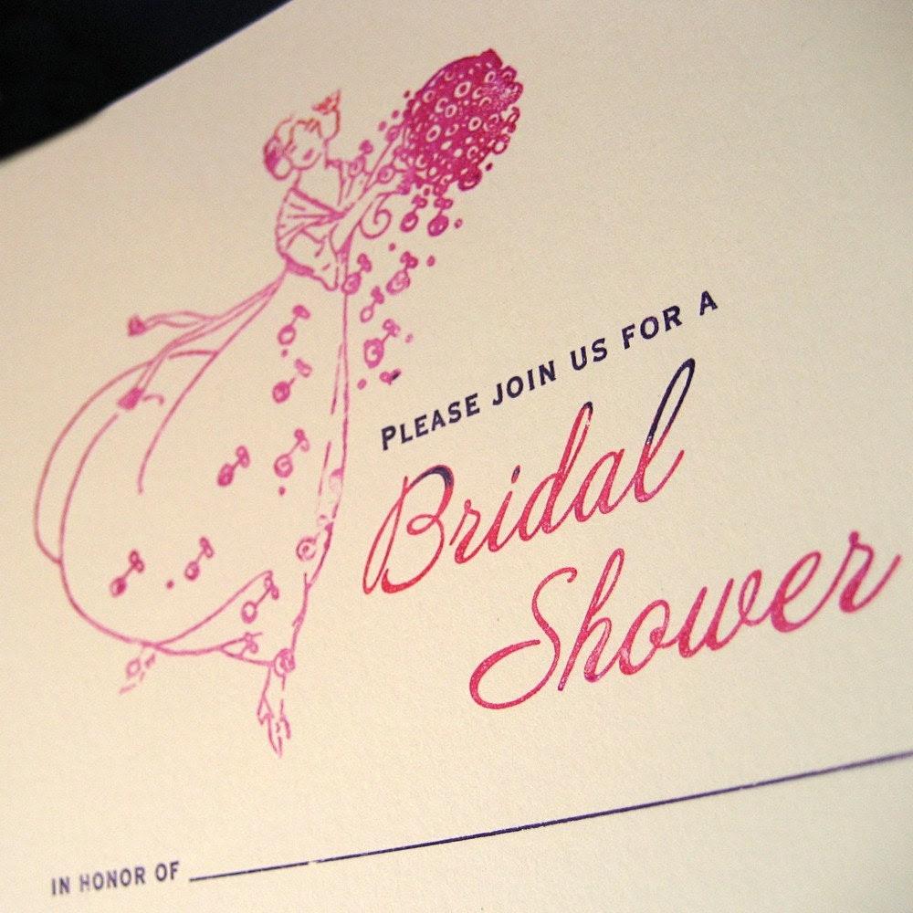 Bridal Shower Invitations, set of 8