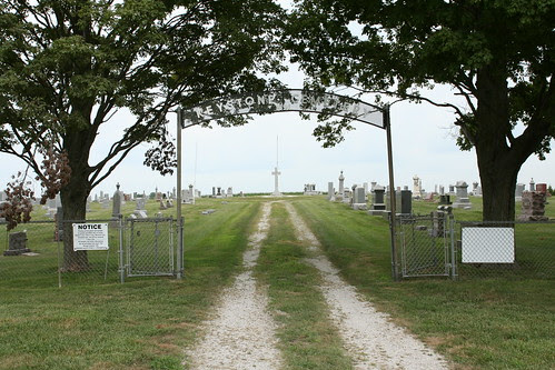 Entrance to Keystone Cemetery