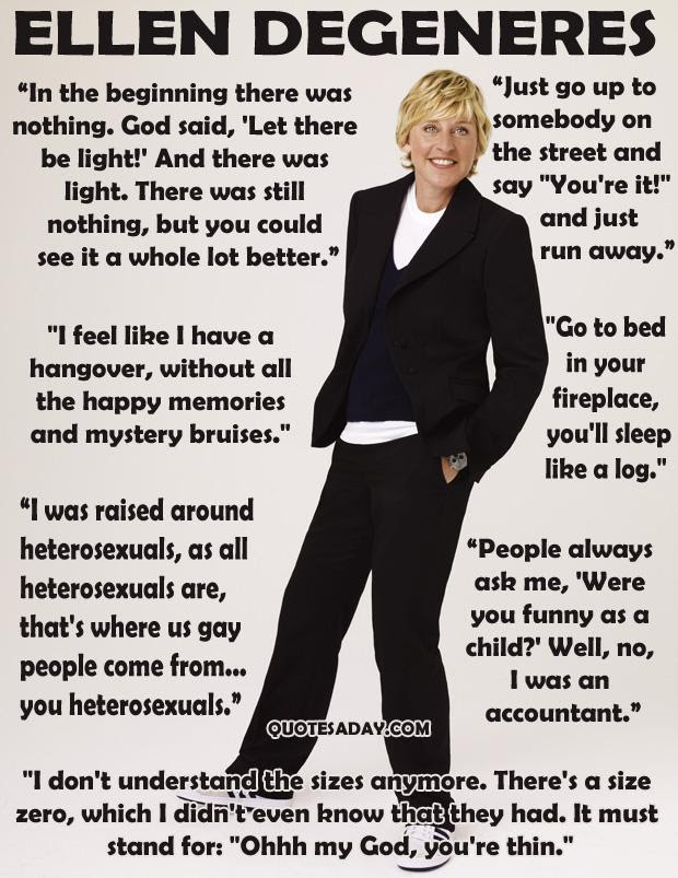 ellen show, funny quotes (3) - Dump A Day