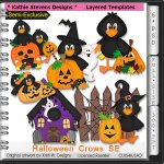 Halloween Crows SE Layered Templates - CU