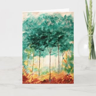 A Stroll In The Park From Original Painting card