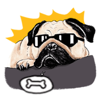 Quang Tran Vinh - Cute Pug Wonderful Dog Sticker artwork