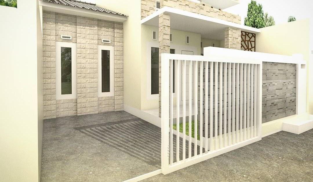 Desain Pagar Rumah Minimalis Type 36 - Desain Dekorasi Rumah