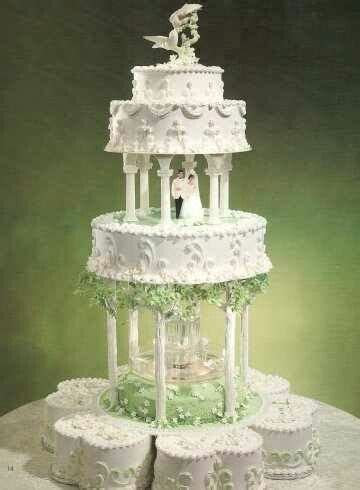 Fountain cake. What'cha want to bet there's some lime
