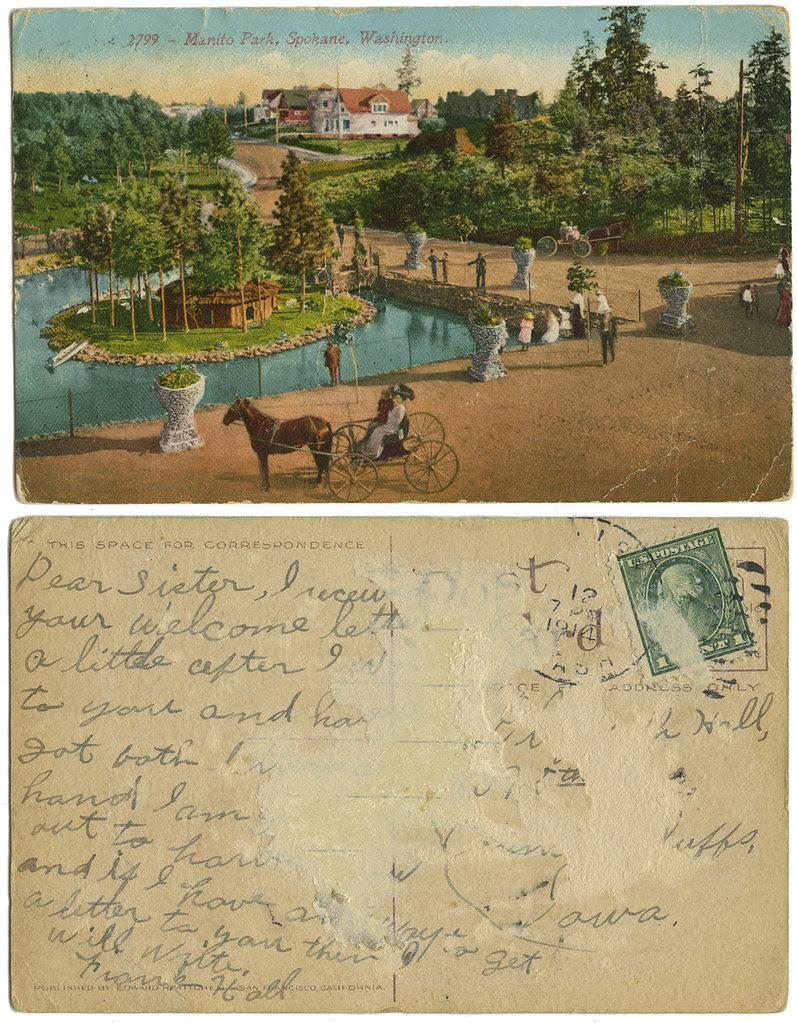 Manito Park, Spokane WA_1914_tatteredandlost