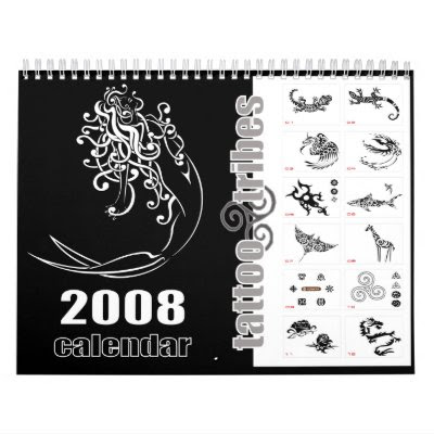 Tribal tattoos 2008 calendar - noir by TattooTribes
