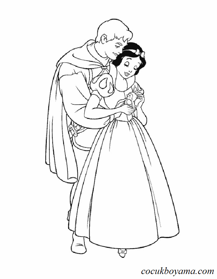 Pamuk Prenses Ve Yedi Cuceler 7 ücretsiz Boyama Resimleri
