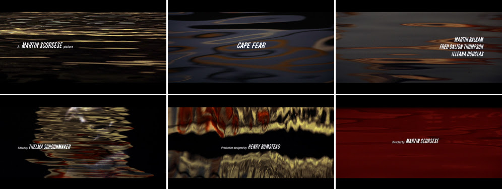 Saul Bass Cape fear 1991 title sequence