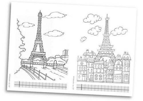 Paris Et La Tour Eiffel Mitsouko Au Cp