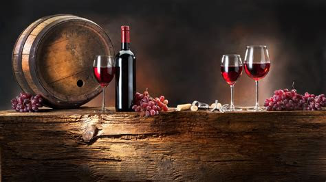 hd wallpaper bunch grapes wine barrel