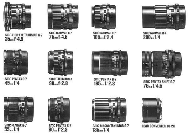 pentax 6x7 lenses