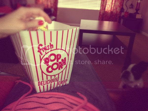 sweats and popcorn