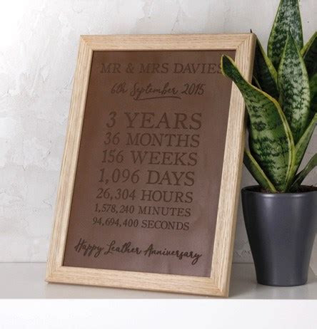 Leather 3rd Wedding Anniversary Gifts   GettingPersonal.co.uk