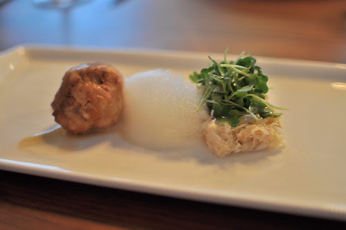 sweetbreads + dungeness crab