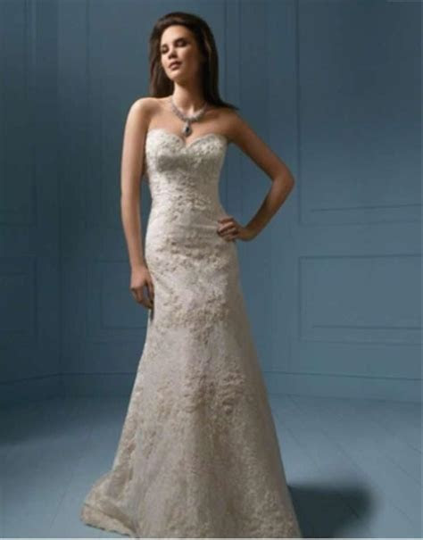 Alfred Angelo 801c Lace Wedding Dress   Tradesy