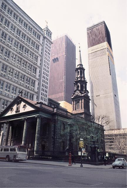 t. Paul's Chapel, Broadway at Fulton St., Manhattan, New York. Photo by Camilo J. Vergara, 1970. //hdl.loc.gov/loc.pnp/vrg.00430