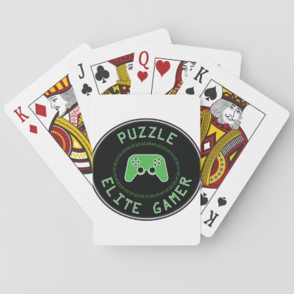 Puzzle Elite Gamer Playing Cards