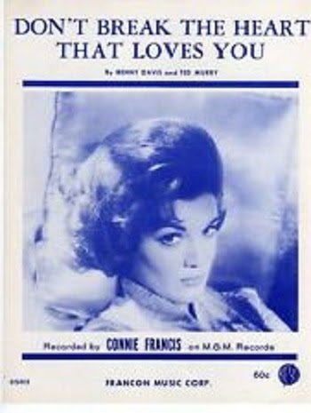 45cat Connie Francis Dont Break The Heart That Loves You Drop